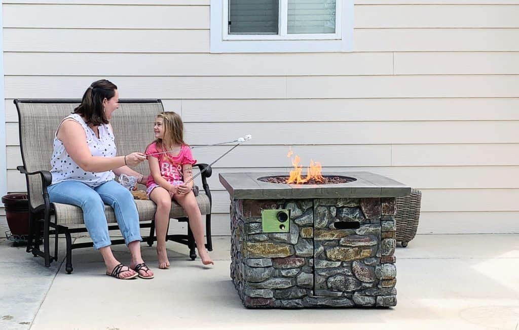 Smores by the fire pit