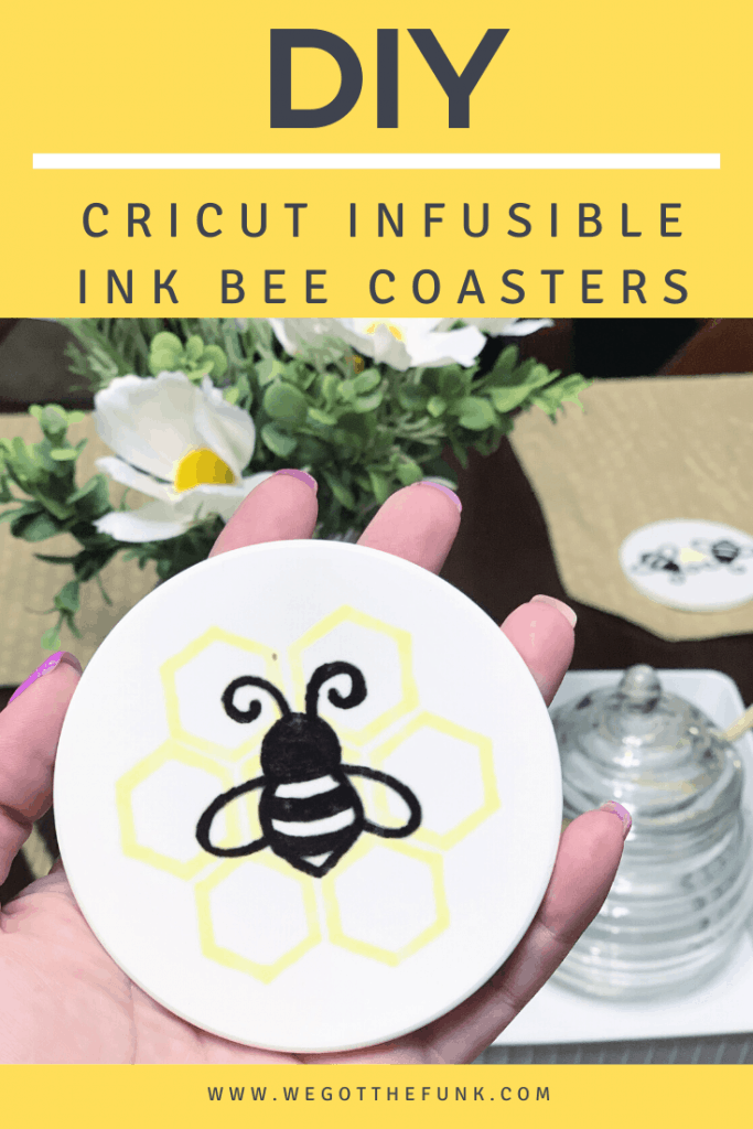 DIY Infusible Ink Bee Coasters