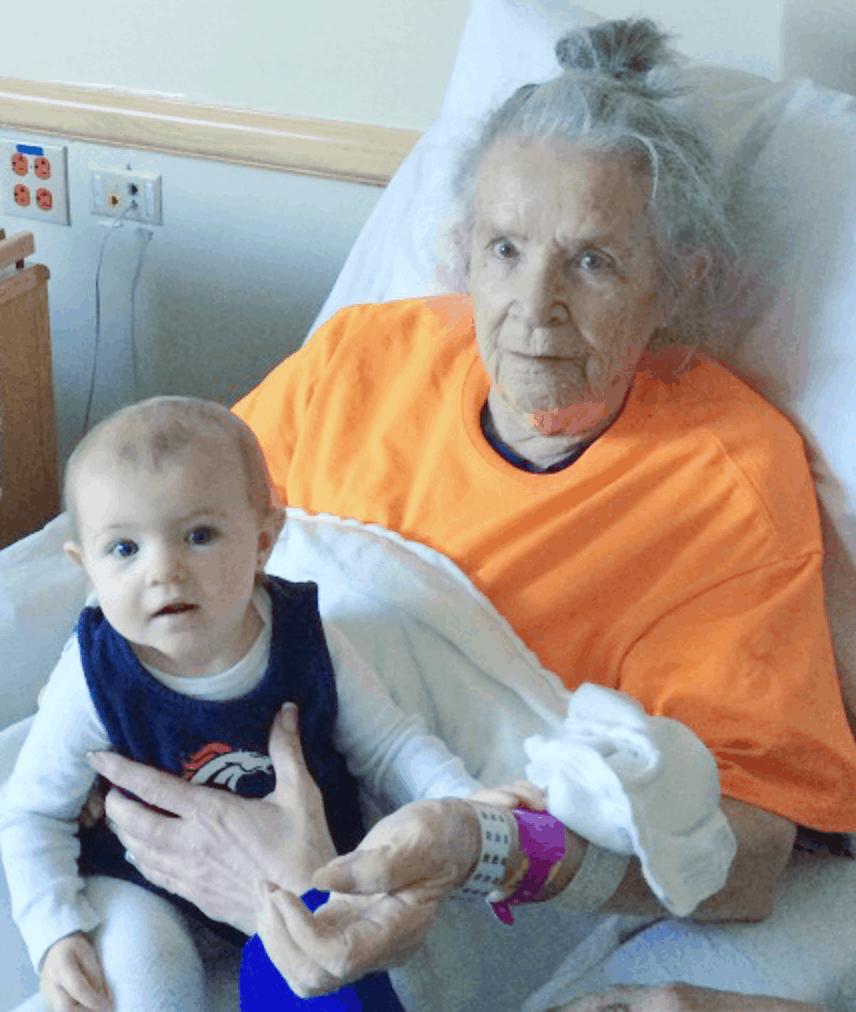 Grandma in hospital