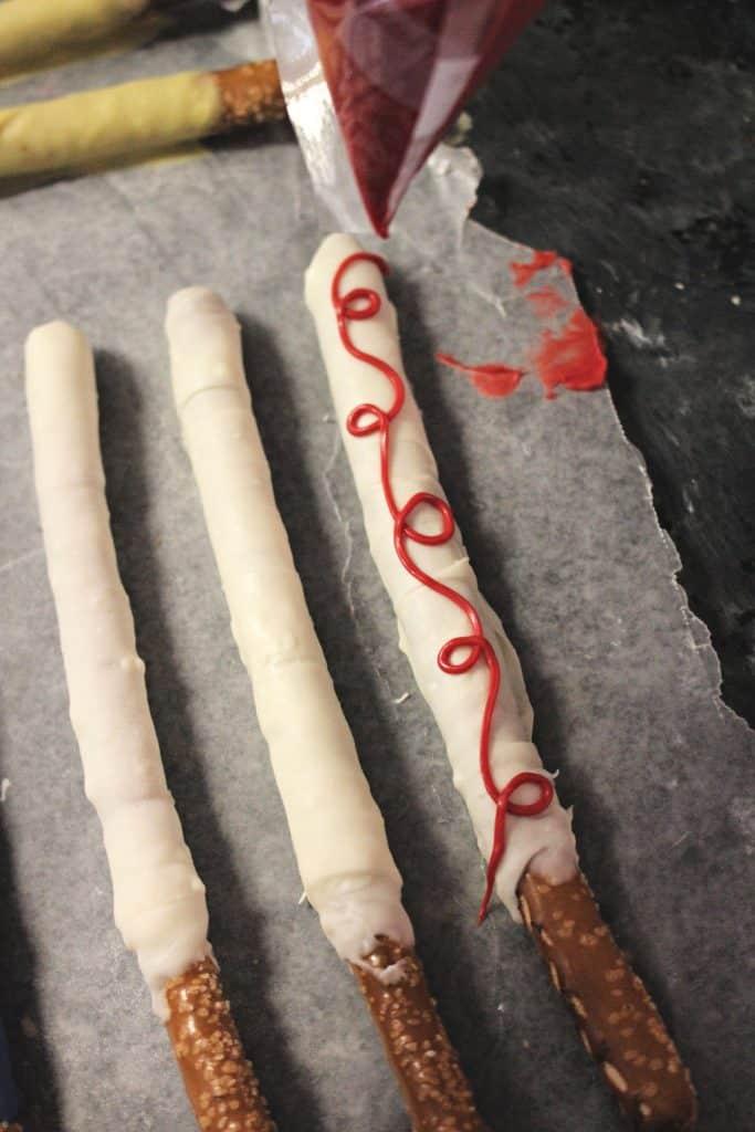 making Jessie pretzel sticks