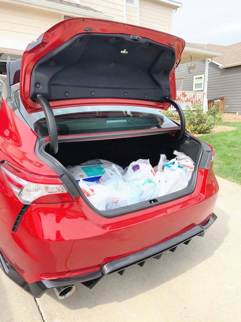 2020 Toyota Camry TRD Trunk Space