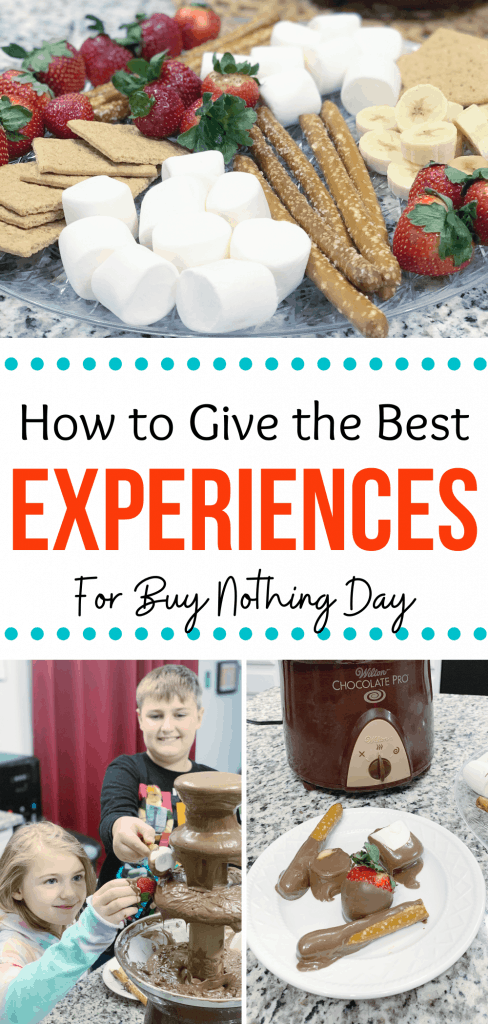 How to Give the Best Experiences for Buy Nothing Day