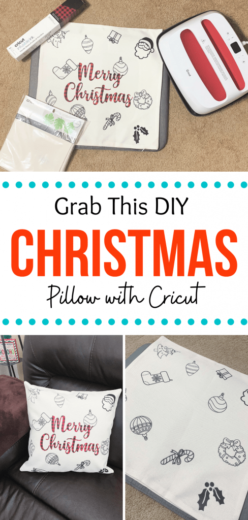 DIY Merry Christmas Pillow Tutorial with Cricut Infusible Ink