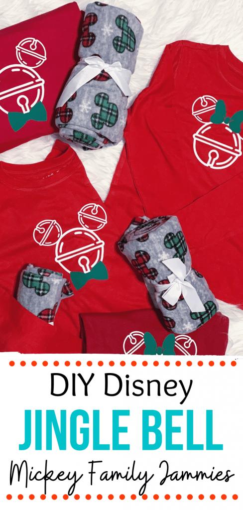 DIY Disney Jingle Bell Family Pajamas