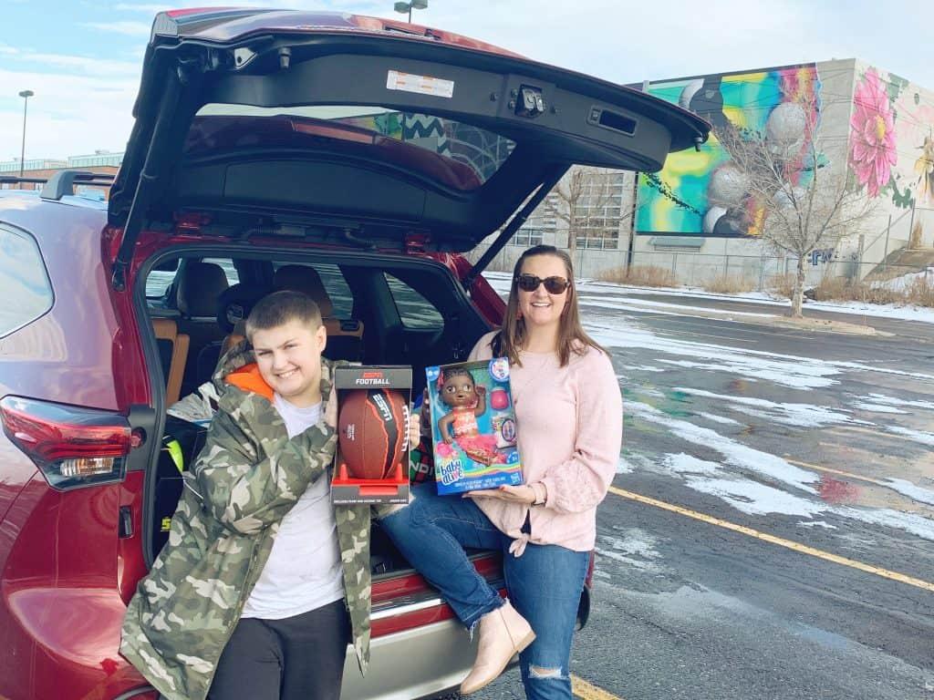 Donating toys to Denver Dream Center
