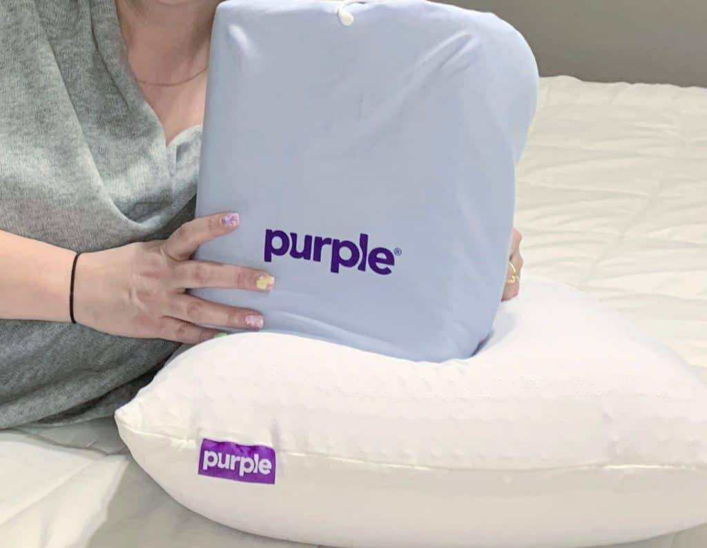 Purple sheets and pillow