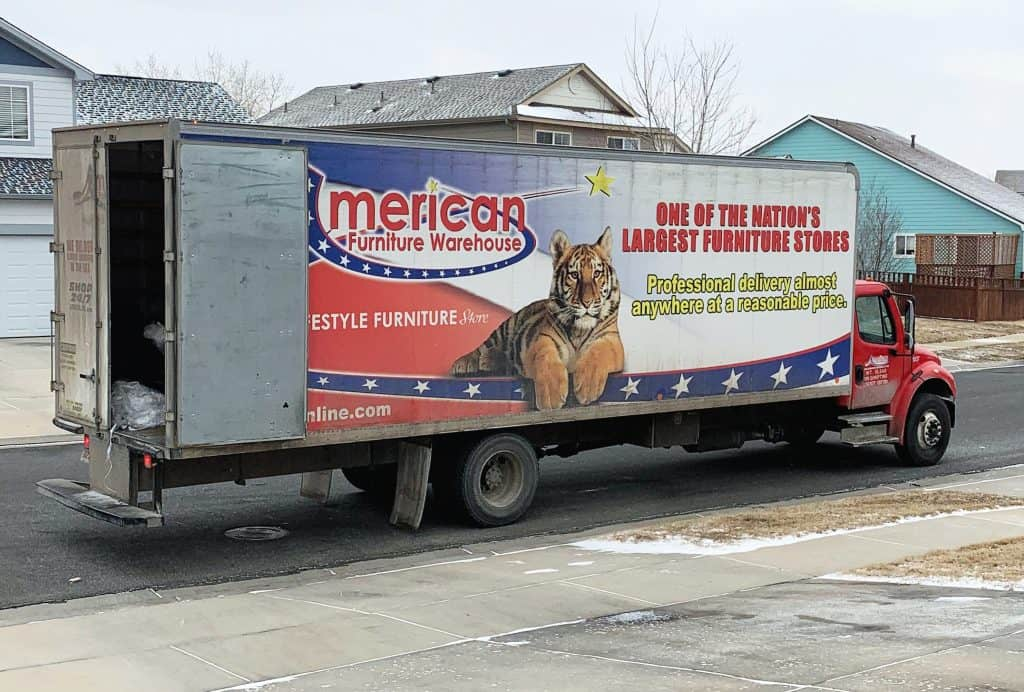 American Furniture Warehouse delivery