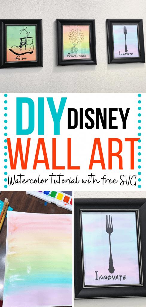 DIY Inspirational Disney watercolor wall art