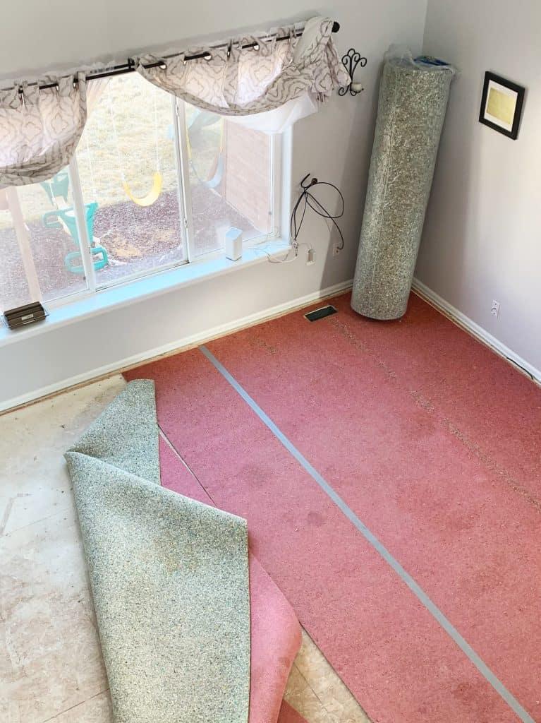 Replacing old carpet
