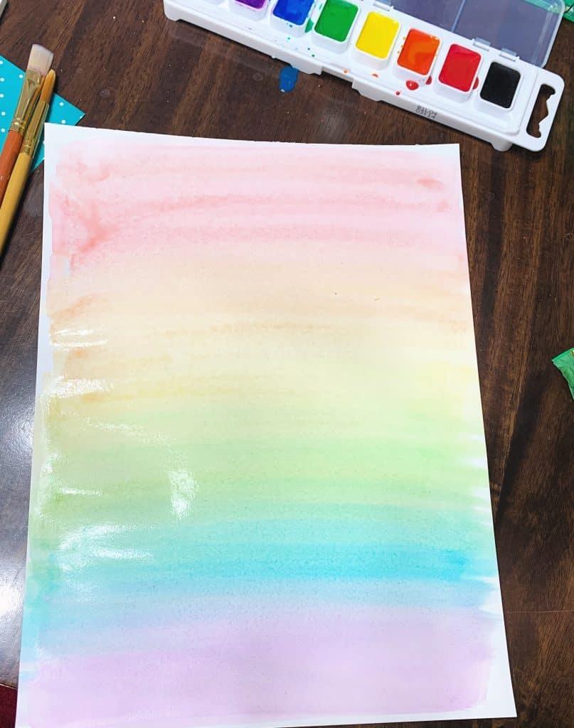 Rainbow watercolor tutorial
