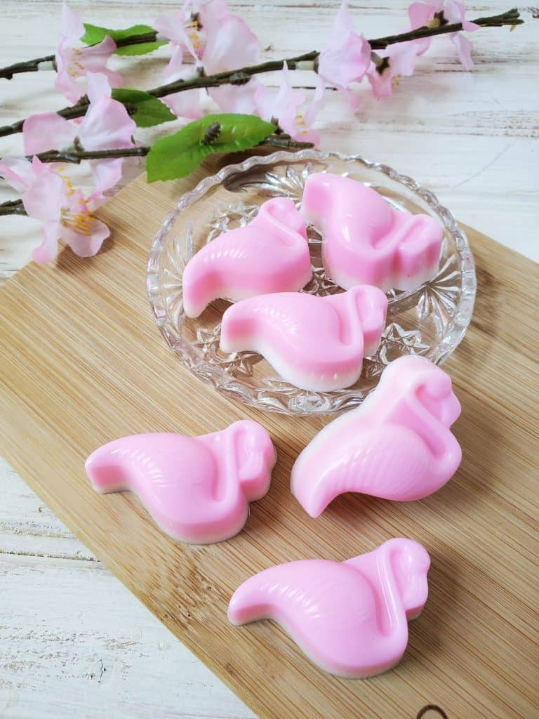 How to make molded flamingo soap