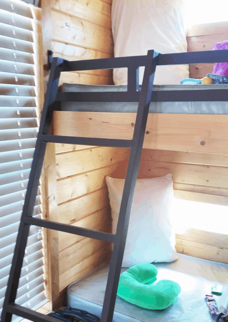 KOA deluxe cabin sleeping arrangements