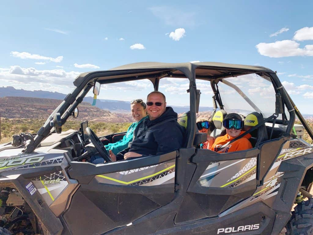 UTVing with Family in Moab