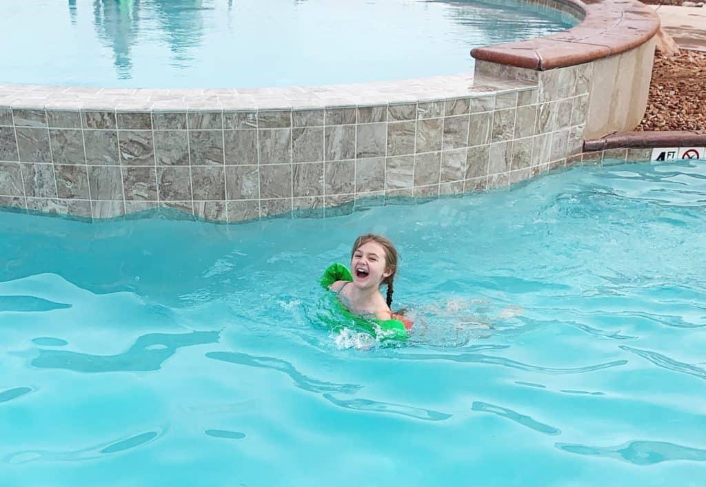 Swimming at Moab KOA
