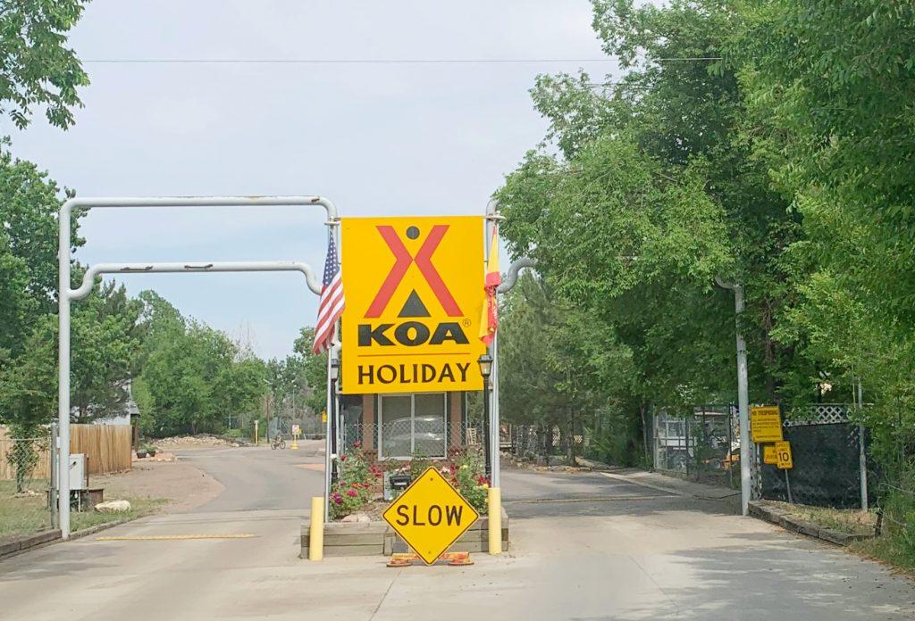 Entrance to Lakeside KOA Holiday