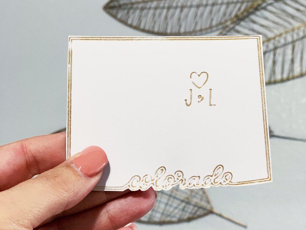Foil on sticker cardstock with Cricut