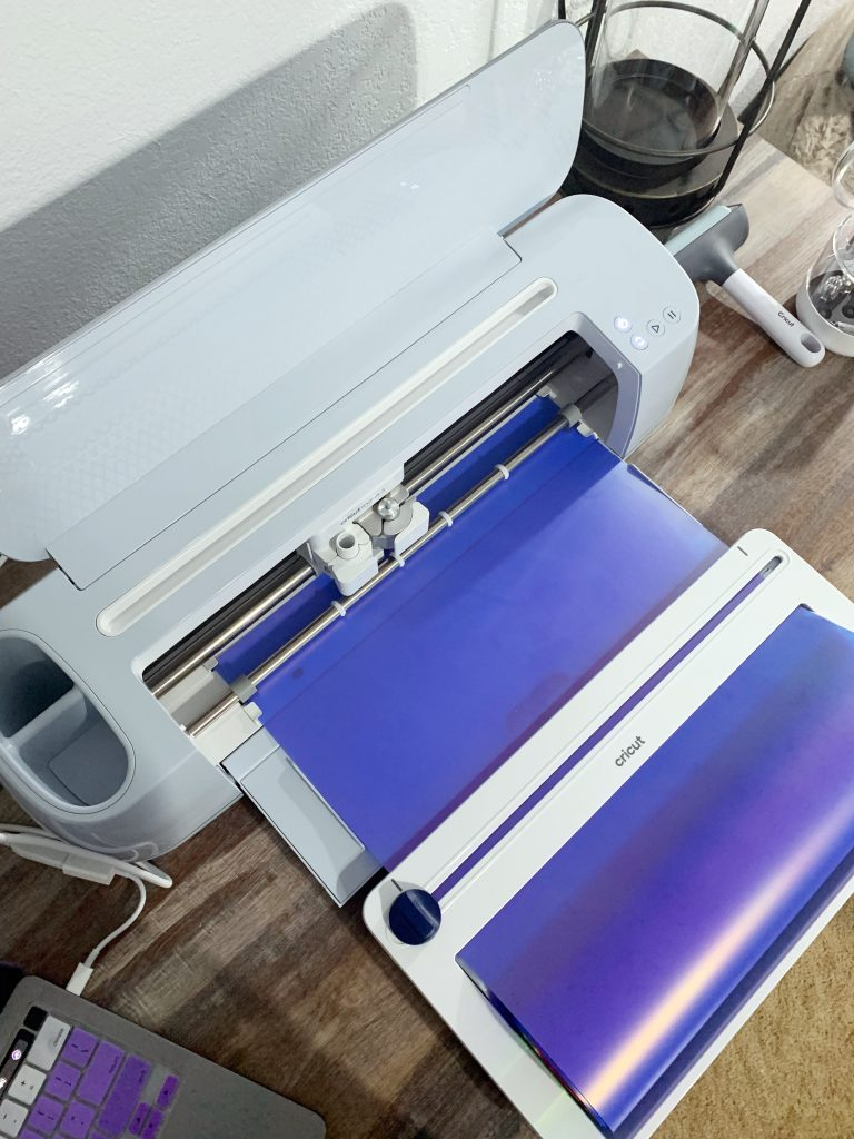 Holographic smart iron on with Cricut Maker 3 and roll holder