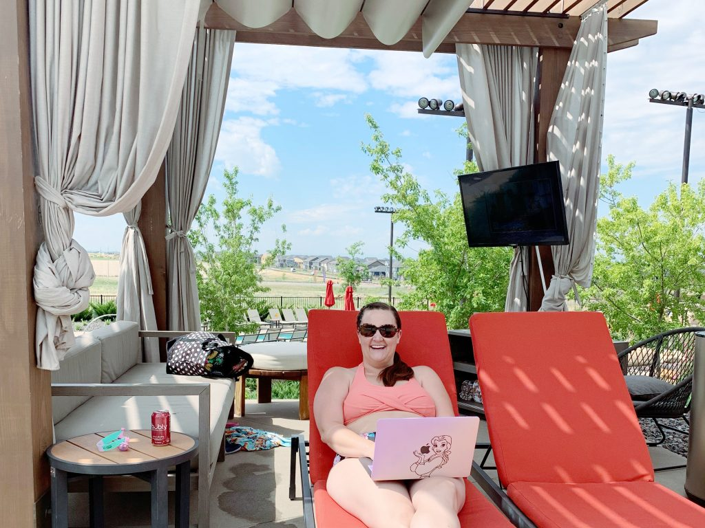 Relaxing in the cabanas at gaylord rockies