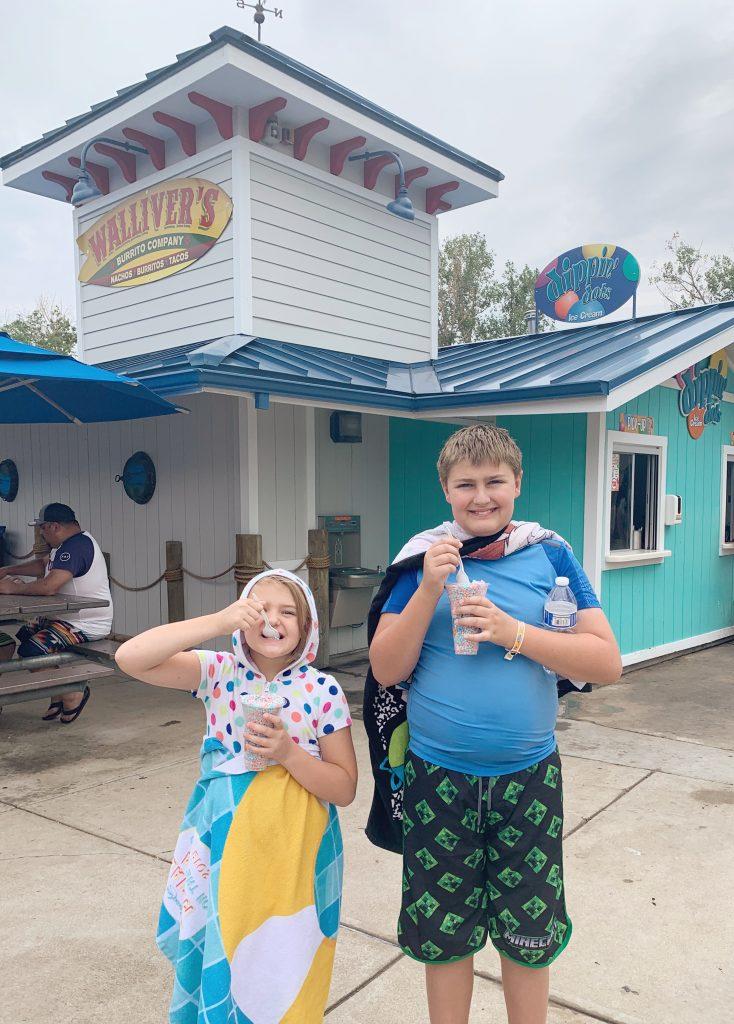 Ice cream at Water World