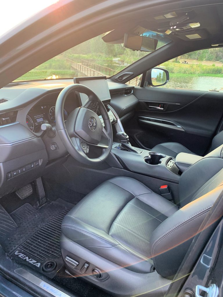 Interior of 2021 Toyota Venza Limited Hybrid