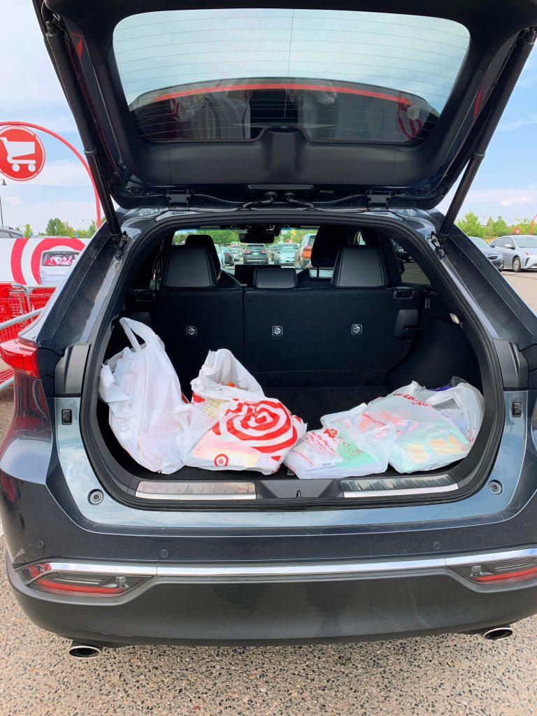 Loading the Toyota Venza