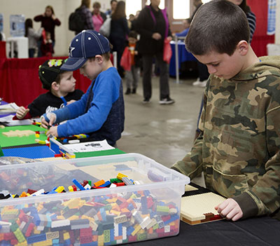 Kids Playing with LEGO at FamilyFest Denver