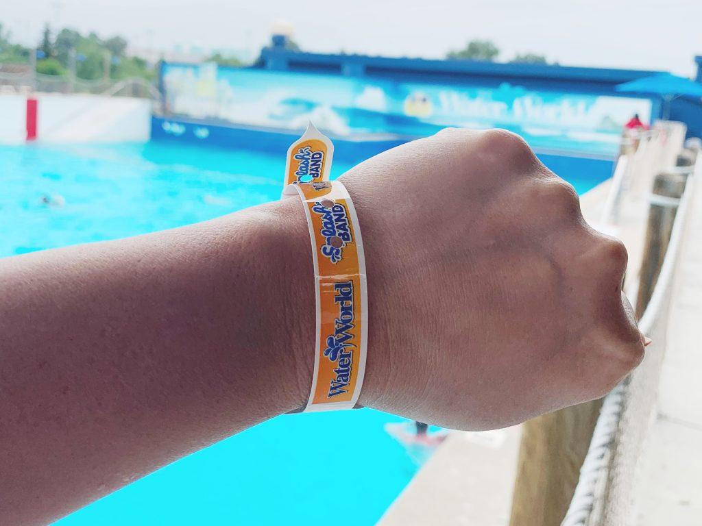 Splash band and Tube Valet at Water World