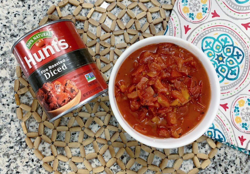 Hunt's fire roasted tomatoes